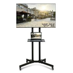 Adjustable Mobile TV Stand Mount Universal Flat Screen Rolli
