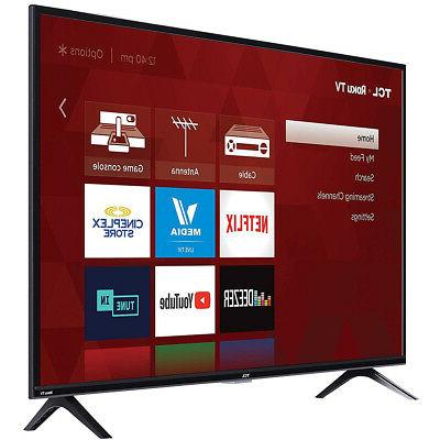 TCL 40-Inch Class LED 3-Series HDMI Smart TV,