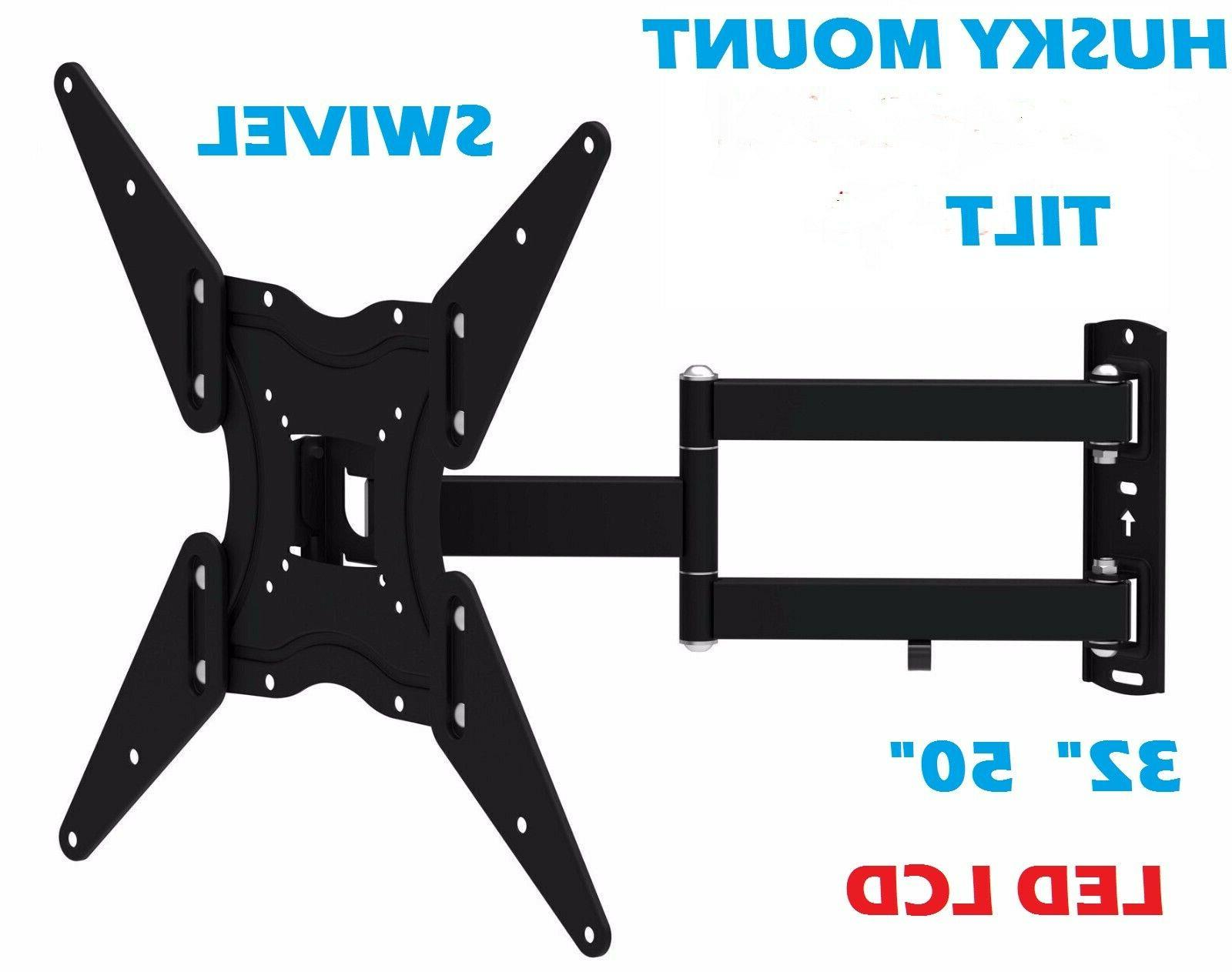 full motion tv wall mount swivel bracket