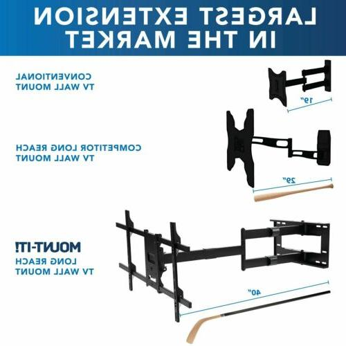 Mount-It! Full Arm 40 Extension Fits 42-80 TVs